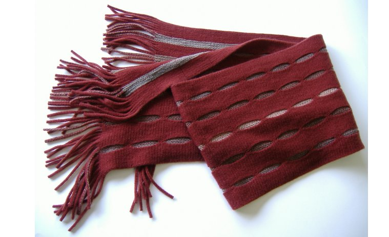 リバーシブルストライプマフラー(全5色)