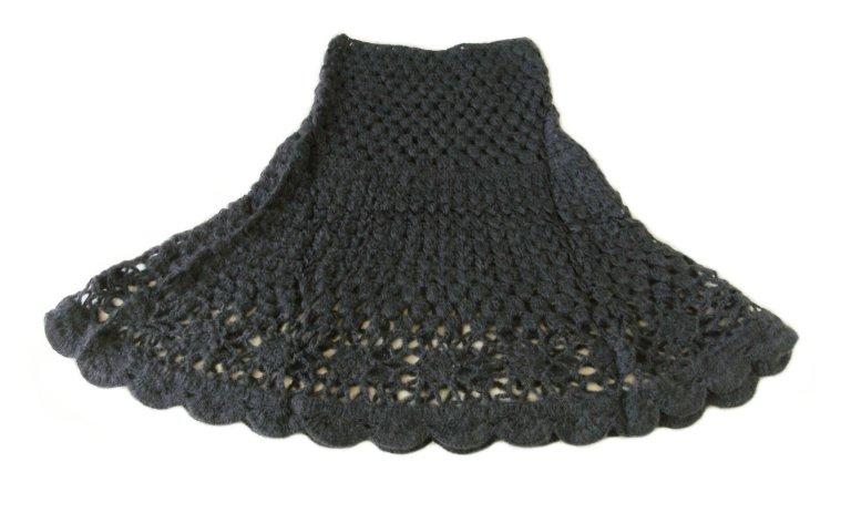 手編みモヘアケープ