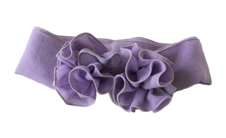 コサージュ付きスカーフ(綿100%無地)