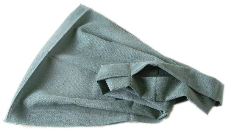 保冷剤ポケット付き綿無地リングマフラー