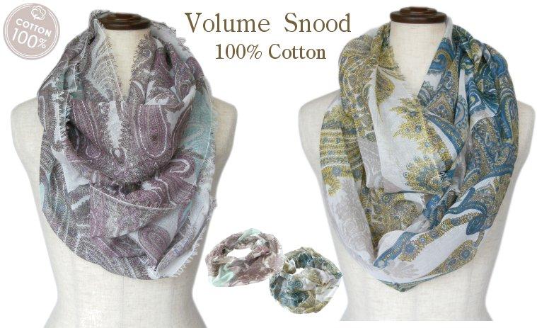 ネッククーラ綿麻リングスカーフ(全3色)