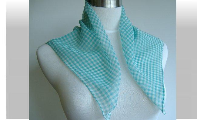 格子スカーフ